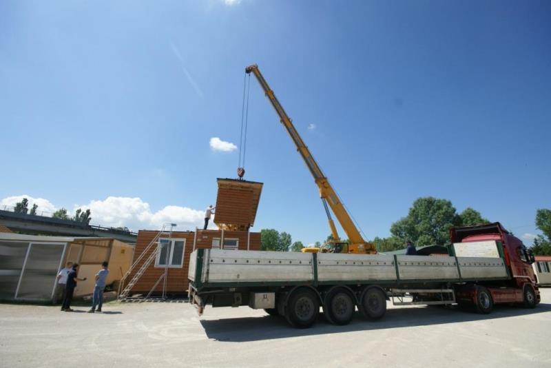 Trasporto e montaggio di case mobili  4Springs Case Mobili
